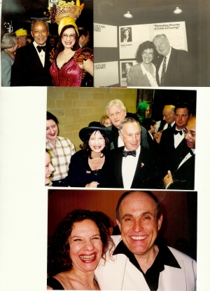 Shelly and Mayors Dinkins, Koch, Bloomberg and Giuliani at the Inner Circle Show which she directs. Her performances at